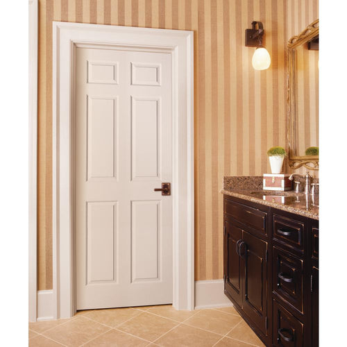 30 in. x 80 in. Colonist Primed Textured Molded Composite MDF Interior Door Slab - Denali Building Supply