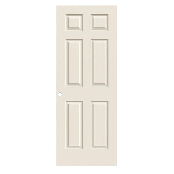 JELD-WEN 30 in. x 80 in. Colonist Primed Textured Molded Composite MDF Interior Door Slab