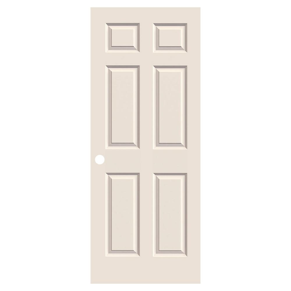 32 in. x 80 in. Colonist Primed Textured Molded Composite MDF Interior Door Slab - Denali Building Supply