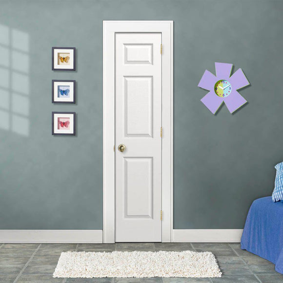 18 in. x 80 in. Colonist Primed Textured Molded Composite MDF Interior Door Slab - Denali Building Supply