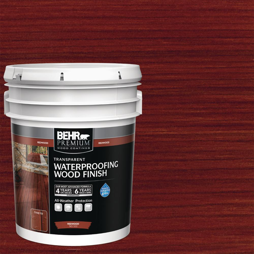5 gal. #T-330 Cedar Transparent Waterproofing Exterior Wood Finish - Denali Building Supply