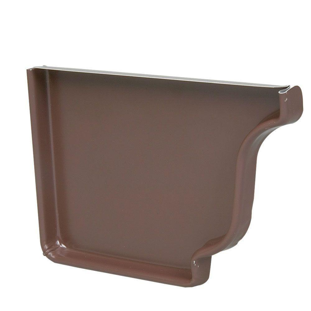 5 in. HD Brown Aluminum Left End Cap - Denali Building Supply