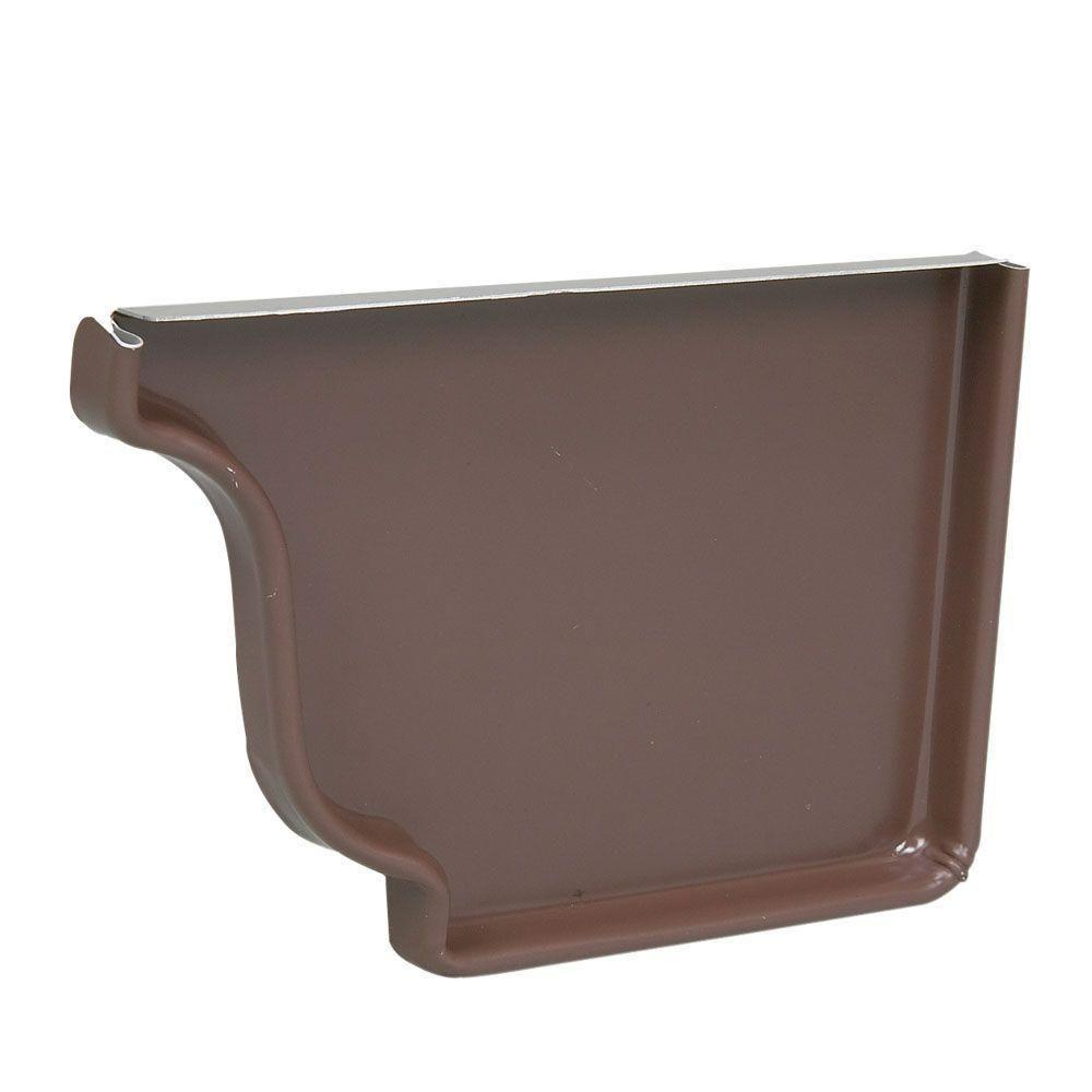 5 in. HD Brown Aluminum Right End Cap - Denali Building Supply