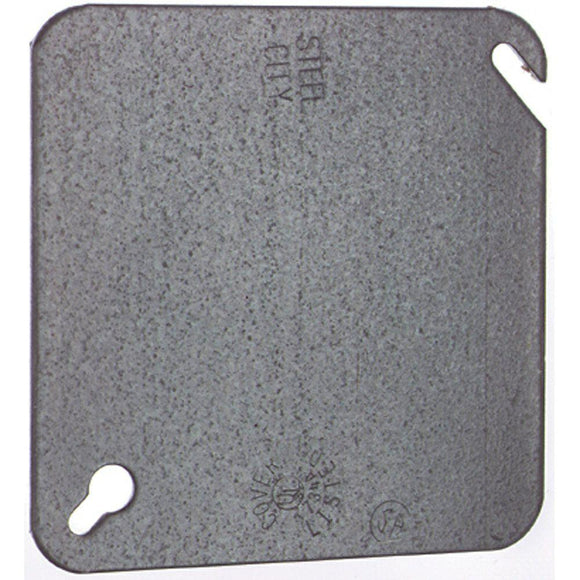 4 in. Square Metal Electrical Box Flat Cover - Denali Building Supply