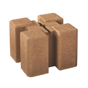 7.5 in. x 7.5 in. x 5.5 in. Tan Brown Planter Wall Block - Denali Building Supply
