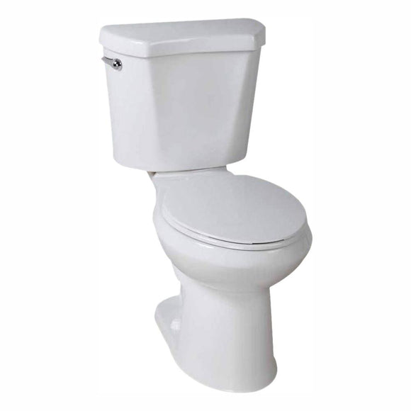 Glacier Bay 2-Piece 1.28 GPF High Efficiency Single Flush Elongated Toilet in White - Denali Building Supply