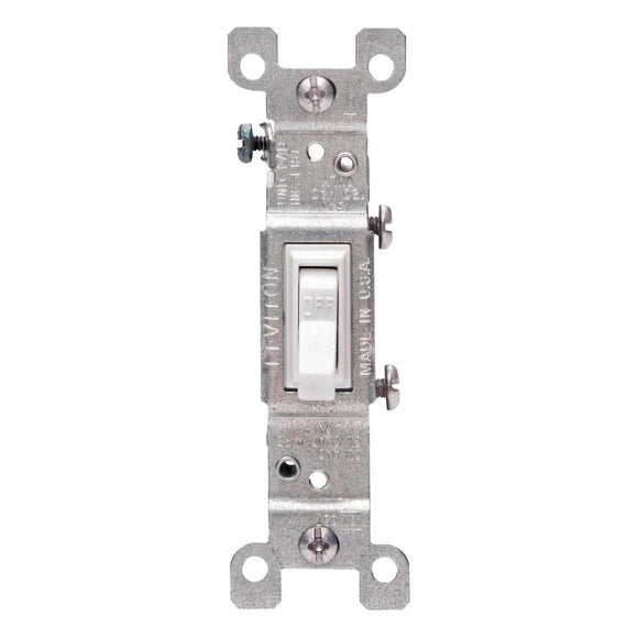 15 Amp Single-Pole Switch, White (10-Pack) - Denali Building Supply