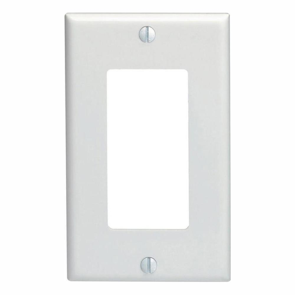 Decora 1-Gang Wall Plate, White (10-Pack) - Denali Building Supply