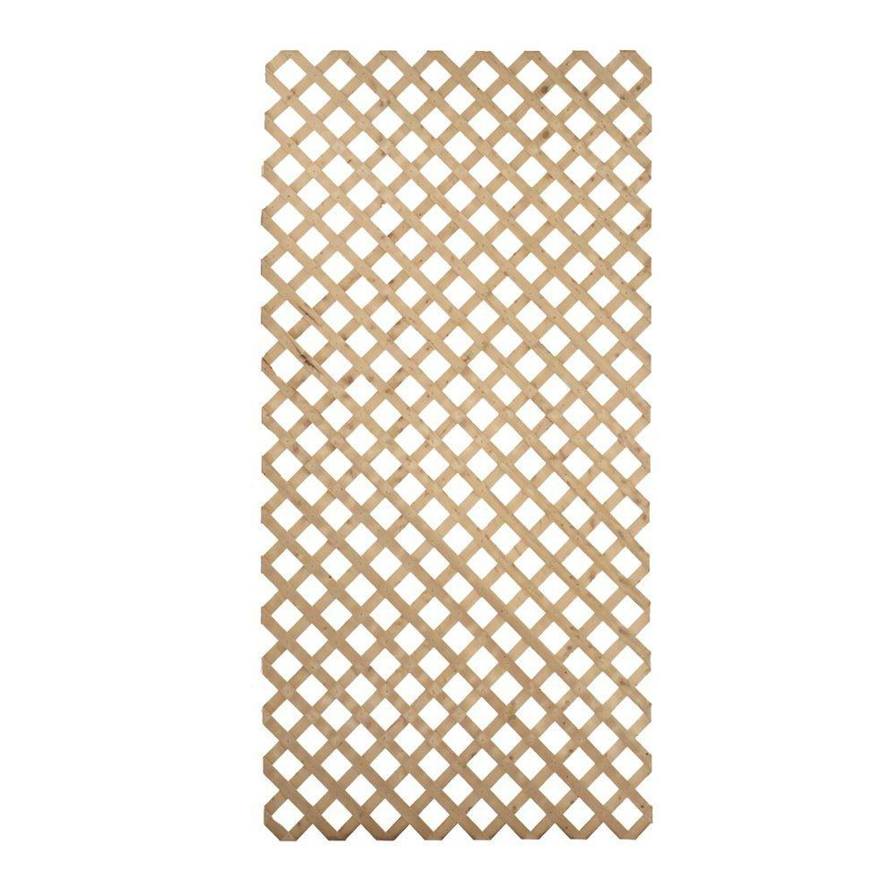 4 ft. x 8 ft. Pressure Treated Garden Wood Lattice - Denali Building Supply