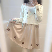 Load image into Gallery viewer, S/M Kawaii Kitty Cat Paw Top/Skirt/Set SP165500