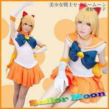 Load image into Gallery viewer, [Sailor Moon] Sailor Venus Senshi Cosplay Costume SP153259
