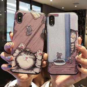 Kawaii Cat Printing Phone Case SP13958