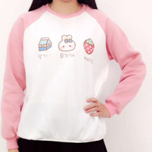 Load image into Gallery viewer, Kawaii Strawberry Milk Bunny Jumper SP167803