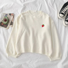 Load image into Gallery viewer, 4 Colors Fruit Embroidery Round Neck Sweater SP14493