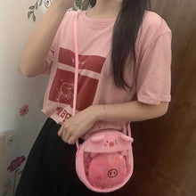 Load image into Gallery viewer, Pink/Grey Kawaii Doge Cross Body Bag SP13931