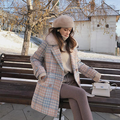 Woolen Elegant Double Breasted Winter Coat SS0121