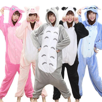 Kigurumi Onesie Adult Women Animal Pajamas Suit Flannel Cosplay Sleepwear SP14599