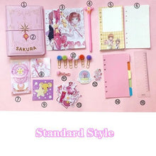 Load image into Gallery viewer, 3 Styles Card Captor Sakura Magic Notebook Set SP032