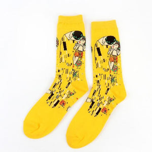 Autumn Winter Retro New Art Van Gogh Mural World Famous Oil Painting Series Socks SP14593