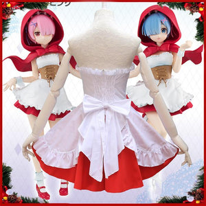 Anime Re:Life in a different world Rem & Ram Cosplay Costume SP14343