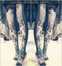 Load image into Gallery viewer, J-Fashion Lolita Fake Over Knee Skin Lace Leggings SP130078