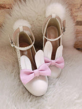 Load image into Gallery viewer, 4 Colors Lolita Cutie Bunny Ears High Heel Shoes SP154256