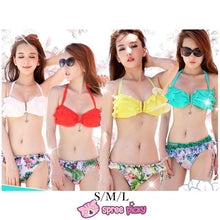 Load image into Gallery viewer, S/M/L 4 Colors Sexy Hawaii Bikini Swimsuit 2 Pieces Set SP151964