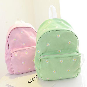 5 Colors Mori Girl Floral Pastel Canvas Backpack SP178912