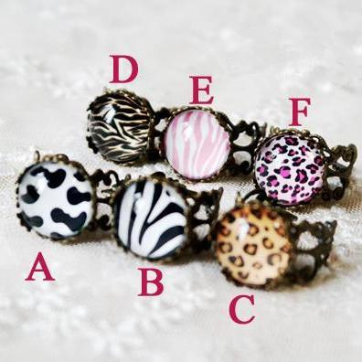 Animal Print Vintage Ring SP152599