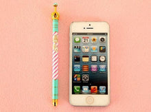 Load image into Gallery viewer, Colourful Stripe Crown Ballpen One Piece Only SP153775