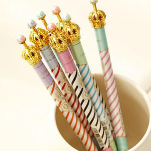 Colourful Stripe Crown Ballpen One Piece Only SP153775