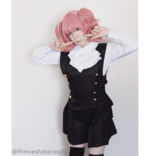 Cosplay Inu x Boku SS Roromiya Karuta and Shirakiin Ririchiyo Uniform Dress SP141201