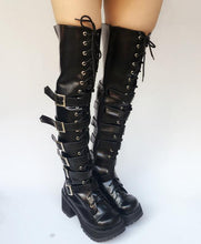 Load image into Gallery viewer, Custom Made Super Cool Punk Over Knee High Boots SP167713