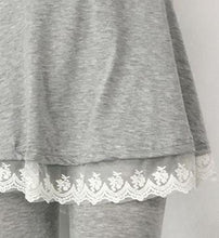 Load image into Gallery viewer, S-XL Light Grey/Deep Grey/Black Lace Pleated Pantskirt SP168127
