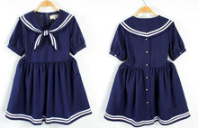 Load image into Gallery viewer, S/M/L 3 Colors Summer Stripe Sailor Dress SP152499