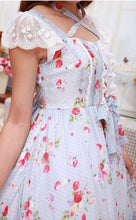 Load image into Gallery viewer, Light Blue Strawberry Floral Printed Dress SP165447