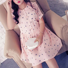 Load image into Gallery viewer, XL-4XL Pink Printing Dress SP166923