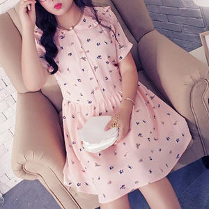 XL-4XL Pink Printing Dress SP166923
