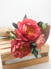 Load image into Gallery viewer, 3 peony bouquet