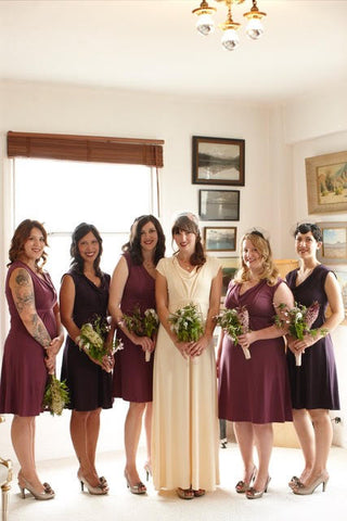 bridal party in the classic dress