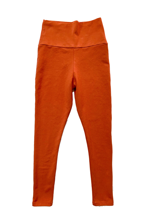 image of orange leggings on white background