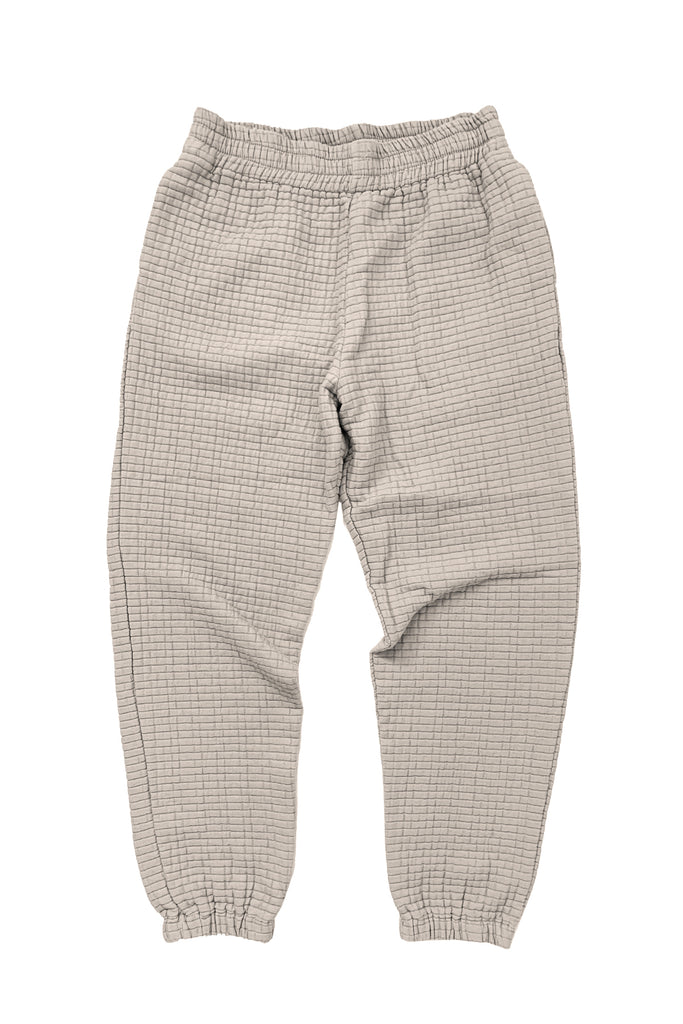 Quilted sweat pants in beige