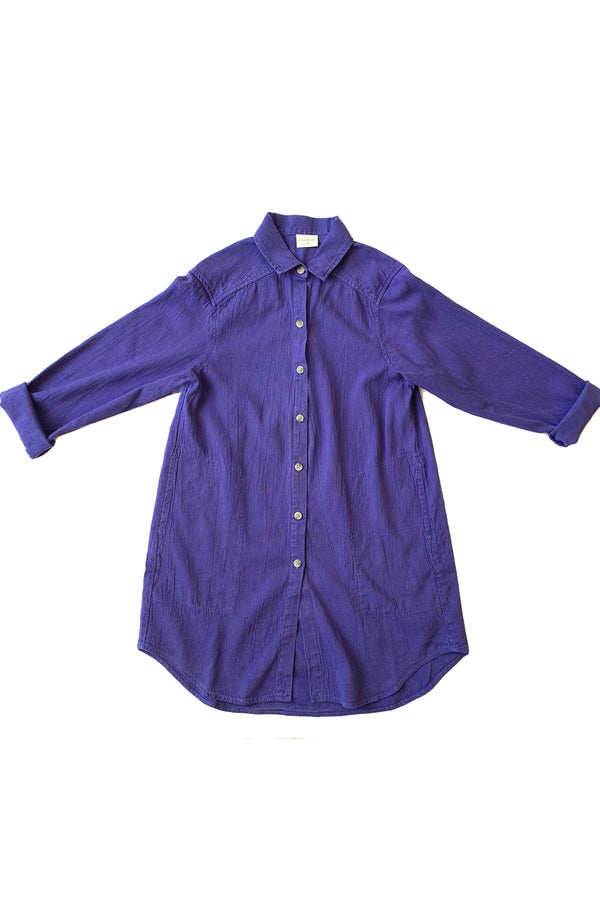 Button up shirt in vibrant purple