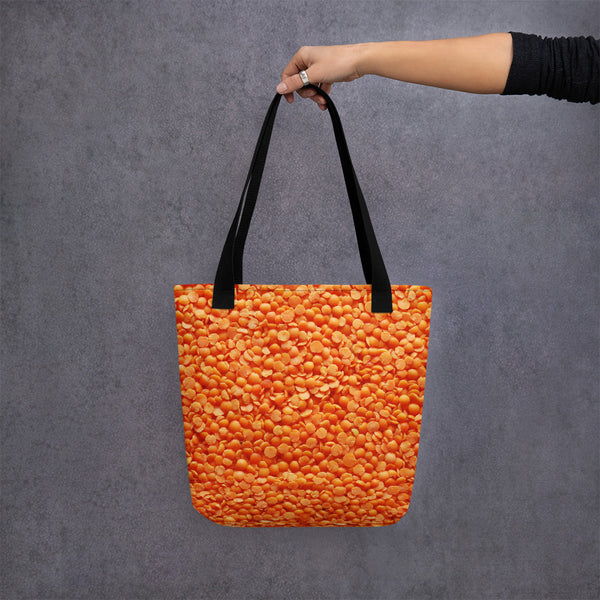 Orange Split Pea Tote (Beans)