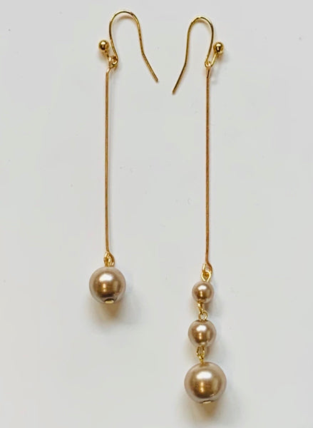 Earrings - Tahitian Gold Pearl