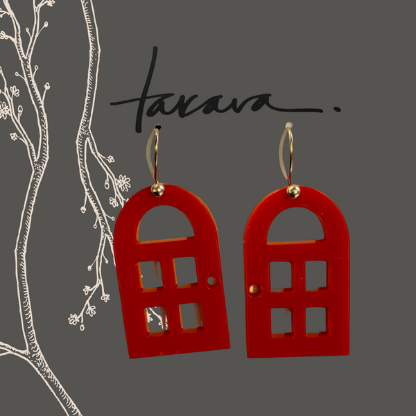 Red Door Earrings