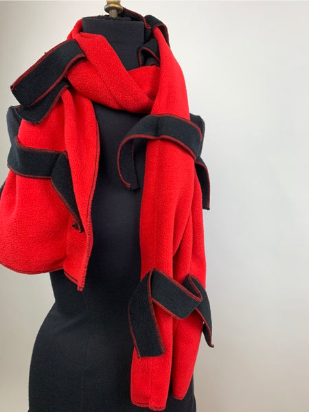 Fleece Ribbon Scarf