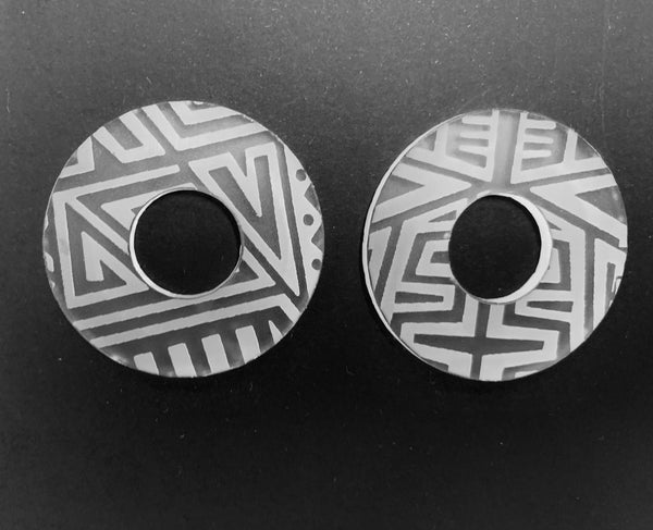 Tribal Marks Disc Earrings