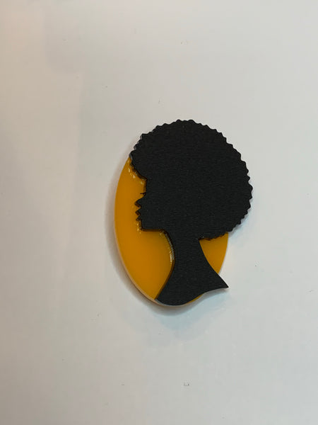 Yellow Moon Pin