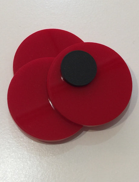 Red Poppie Pin